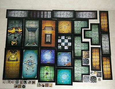 Warhammer Quest dungeon tiles - complete set with Tiles, Markers & Tokens