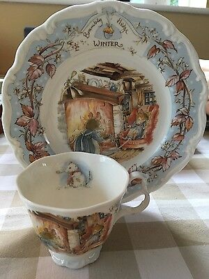 Royal Doulton Brambly Hedge Winter Plate and Tea cip