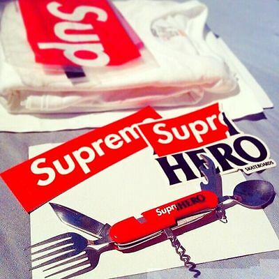 Supreme x Anti Hero Hobo Pocket Knife Spoon Fork Camping Tool Red