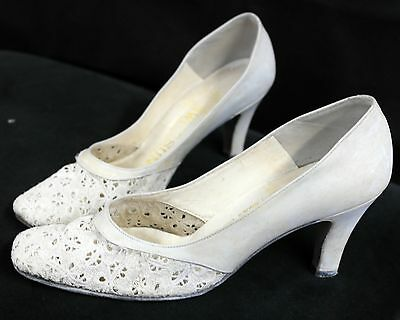 Vintage Broderie Anglaise heels