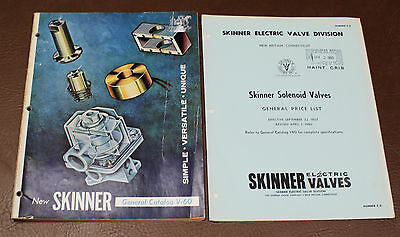 Skinner Electric Solenoid Valves Commercial GEN CATALOG V-60 & PRICE LIST 1960