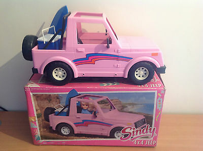 Vintage 1988 Boxed Sindy 4X4 LE Jeep 8746 Complete With Original Accessories