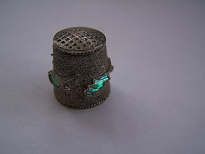 Fish, Pewter, Shell, Mother Of Pearl, Thimble, Vintage