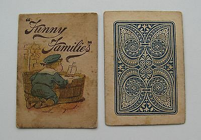 """Funny families"" antique playing cards 1890s?"