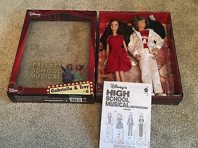 Disney High School Musical Singing Gabriella And Troy Barbie Dolls Mattel