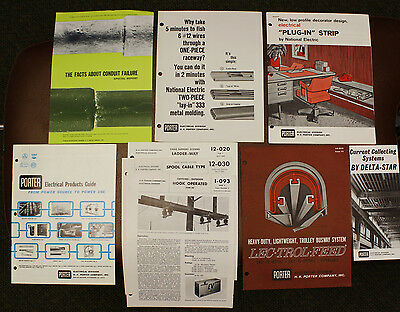 H K PORTER ELECTRICAL Electricity Lineman Commercial CATALOG & BROCHURES 1960's