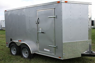 6X12 Enclosed Trailer Cargo Tandem V Nose 14 Utility Motorcycle 7 Lawn 2017