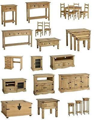 Corona Waxed Pine Coffee Tables, Bookcases, Chest Drawers, Wardrobes, Tv Stands