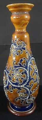 """Antique 1909 Royal Doulton George Tinworth Vase 10.75""""/26.5cm tall A/F"""