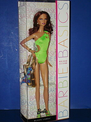 BARBIE BASICS Doll #W3331 Swimsuit Model No. 02 Collection 003 Mattel 2011 MIB!