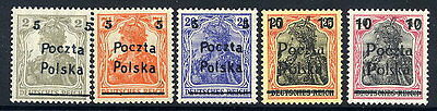 POLAND 1919 Poznan Provisional surcharges on Germany, mint unhinged