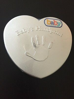 NEW -Baby's First Handprint Kit Baby Connection Mold Plaster Easel Colored Chalk