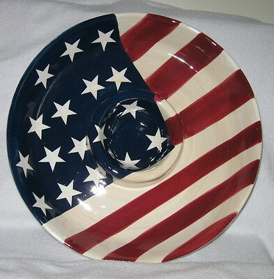 Star and Stripes Chip and Dip Dish