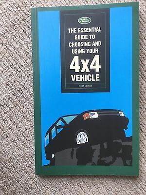 LAND ROVER ESSENTIAL GUIDE TO CHOOSING & USING YOUR 4x4 VEHICLE BOOK Xmas