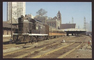 Illinois Central 9201 Station Governor Special Railroad Postcard Train