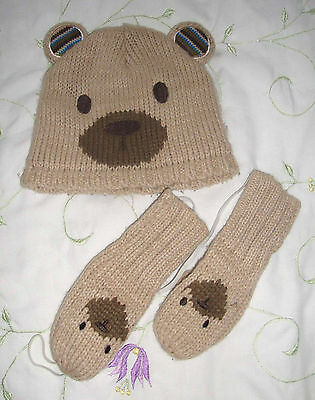 Hat & Mittens, Teddy Bear - Age 1-3 Years