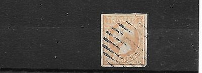 Luxembourg 1852 1s brown orange used