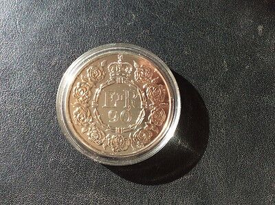 ROYAL MINT QUEENS 90th FIVE POUND COIN BRILLIANT UNCIRCULATED