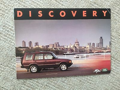 Land Rover Discovery Mpi Sales Folder 1993 Brochure
