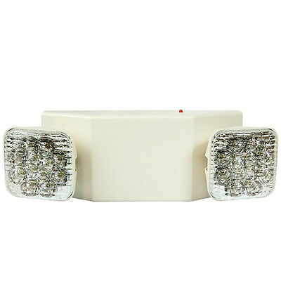 ALL LED Emergency Exit Light - Square Head UL924 Fire Code Safety Light ETL US