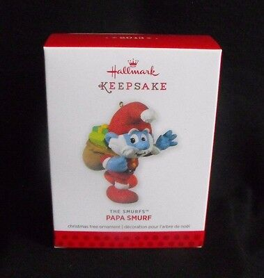 Smurf Santa Papa Hallmark Ornament ~ 2013 ~ Mint in Box ~ Peyo