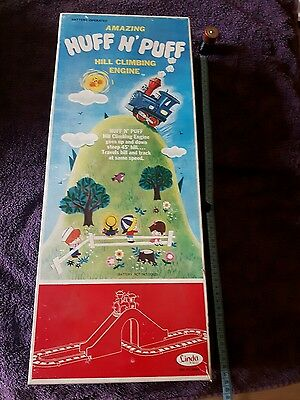 Vintage TRAIN AMAZING HUFF N PUFF BATTERY OPERATED WITH ORIGINAL BOX