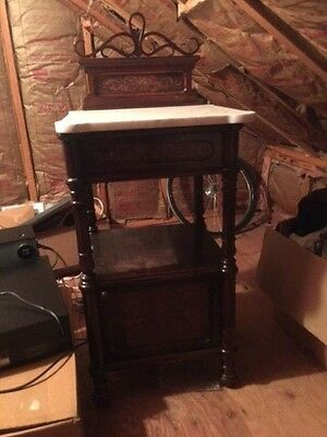 Jacob & Josef Kohn  Wien Furniture  Pair Antique Nightstands Pre 1914 Marble Top