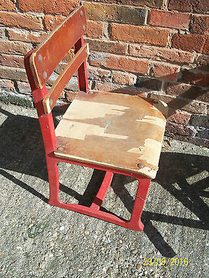 Childs Old School Chair . Metal Frame. Bentwood Ply Seat