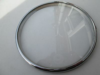 A Small Chrome Mantel Clock Bezel With Its Convex Glass Pin On Type P/p On Pay