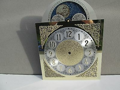 A Hermle Whitt/ Stmch/west Longcase Clock Moon Roller Dial With Arabic Numerals
