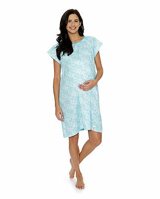 Gownies Designer Hospital Delivery Gown Sz S/M Celeste Sold Out Pattern