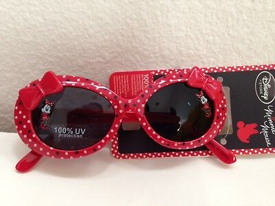Disney Minnie Red Bow UV Protection Girl Sunglasses Authentic New