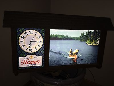 New Hamm's Bear in Canoe Scene and Clock replacement for Hamm's Beer Signs