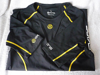 Mens Skins A200 Short Sleeve Compression Top, Black, Large, Boxed, New Free Post