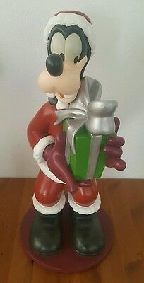 "Rare Goofy Santa Christmas Statue About 17"" Tall Disney"