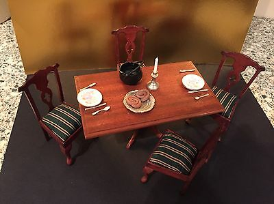 dolls house furniture Dining Table And Chairs  Set For Two