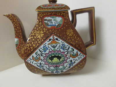 Outstanding large Chinese style antique teapot English Ashworth bros 1878