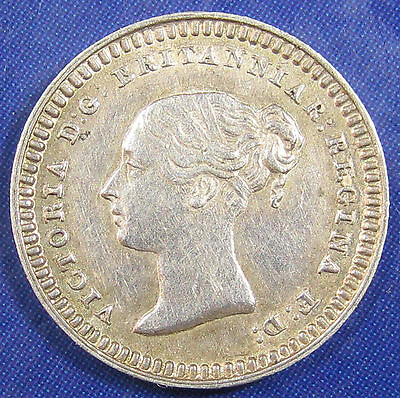 1838 1½d Victoria fascinating silver Threehalfpence - very strong grade