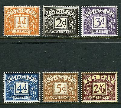 GB GREAT BRITAIN TUDOR sg d40-d45 POSTAGE  DUES UNMOUNTED MINT MNH SET