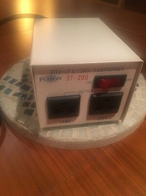 PHILMORE ST-200 Step Up & Down Convertor 110V /200V/220V/240V AC Transformer