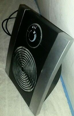 Electric fan heater with LED lit display