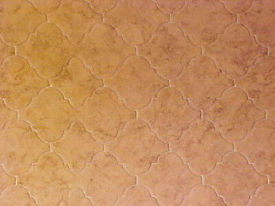 Miniatures Wall Floor Covering Tiles Linoleum Dollhouse Diggs  Beige Tan Cream