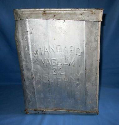"""Antique Old Collectible STANDARD OIL CO. OF NEW YORK """" ELEPHANT"""" Tin / Cans-tier"""