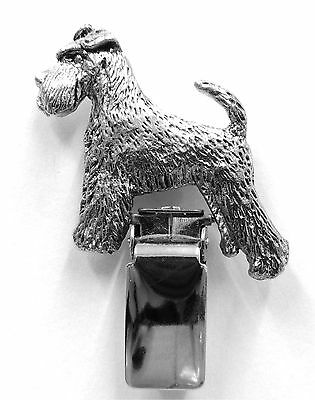 Miniature Schnauzer (with tail) Dog Show Ring Clip/Number Holder