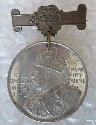 Medal-1909 King Edward Vll Medal 1902 to H BLUMSON for Punctual Attendance