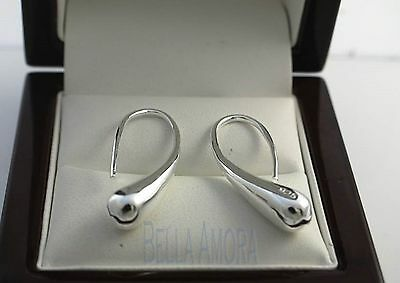 Stunning 925 Stamped Sterling Silver Water Drop Dangle Earrings - New - 01