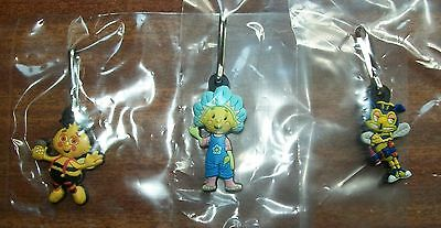 Fifi and the flowertots, key ring clipper / zip pull x 3 - new.
