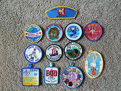Scout Bsa 12 Different Merged Viking Council Scouting Patch Collection Badge !!!