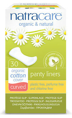 Inserto bragas Panty liners Curved - natracare - 30 Piezas