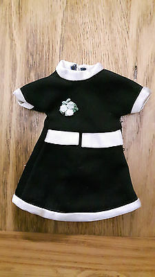 Vintage Sindy/Tressy Size Doll Clothes - Black & White Dress, 1970s